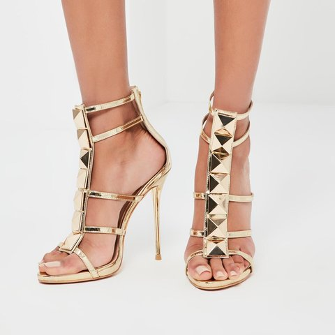 c0364228aba Missguided gold gladiator sandals brand new in box