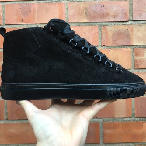 46785b0cd9b21 Balenciaga Arena Suede in Black. Hard to find as they are a - Depop