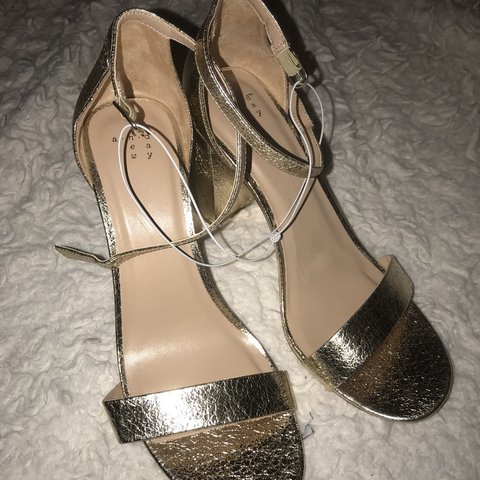 edb7acb459 a new day brand gold textured heel pumps from target. brand - Depop