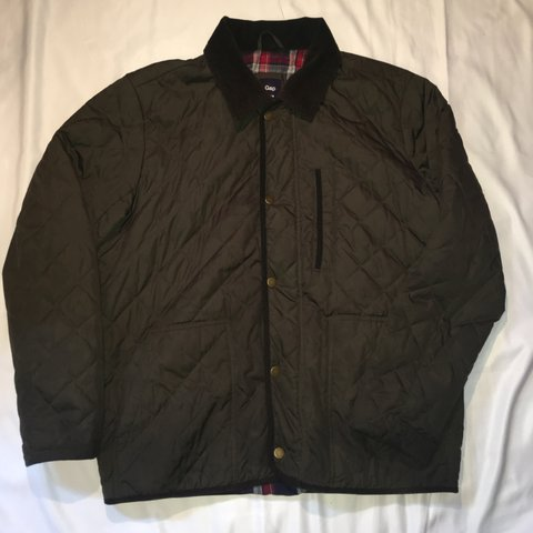 Gap Quilted Hunting Jacket Dark Greenolive In Color With Depop