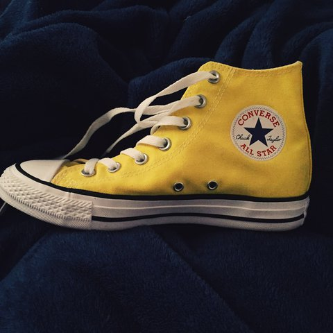 0a5dbbcd282f ... get high top yellow converse. only wore once depop 68586 fa574 ...