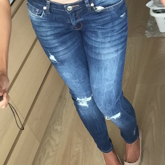 e5354be648b @charllescott. 5 years ago. Birmingham, United Kingdom. Zara superskinny  soft touch ripped jeans! Bought for me ...