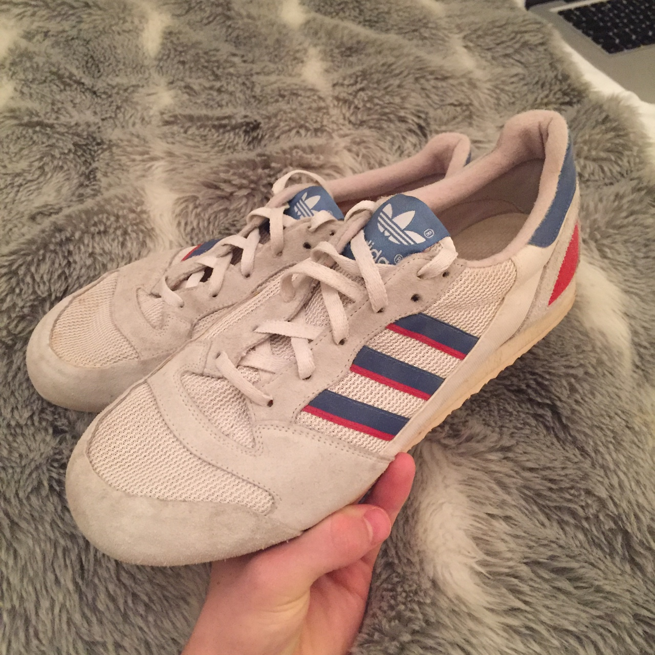 VINTAGE 1980's ADIDAS SQUASH TRAINERS! . Great