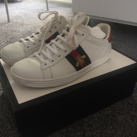 6e43c525813 Gucci bee trainers size 3 to fit size 4 as sizes are big. of - Depop