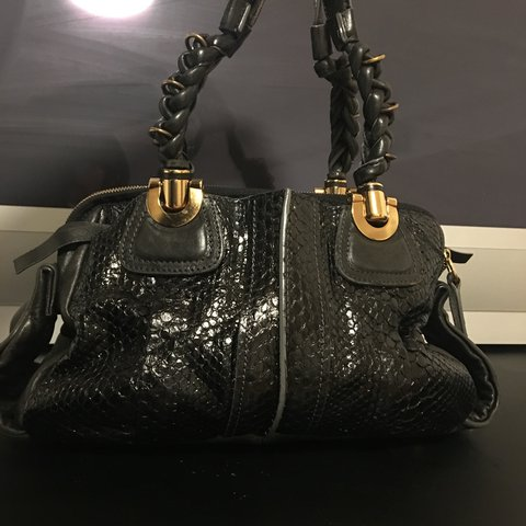 d3ee078a603 @celinepamela. 7 months ago. United States. Beautiful Chloe snake skin black  bag ...