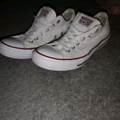 459ad2bec8b Converse size UK 7 Lots of life left. The white is just a No - Depop