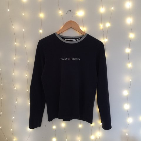 abbc6e718 @norwoodclothing. 2 years ago. Northamptonshire, UK. Women's medium Tommy  Hilfiger long sleeve top | ringer crew neck long sleeve pullover tee ...