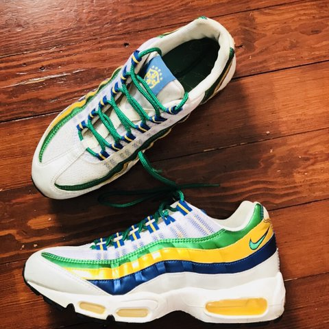9f5839c73a3 ... get rare nike air max 95 brazil world cup edition size 6.5 depop a13d1  c0ce5