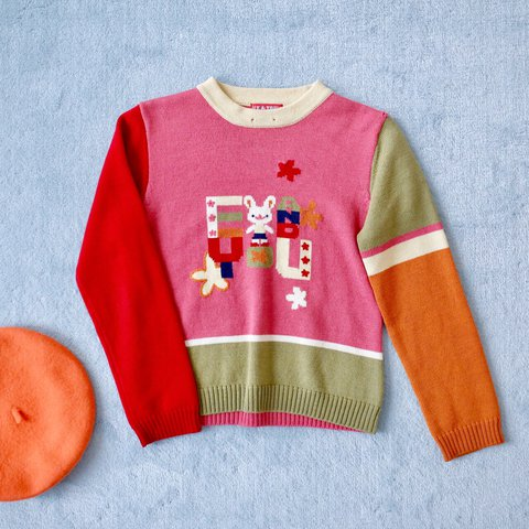 Cutest Sweater Cuteeeeest Colorful Sweater With And I Depop