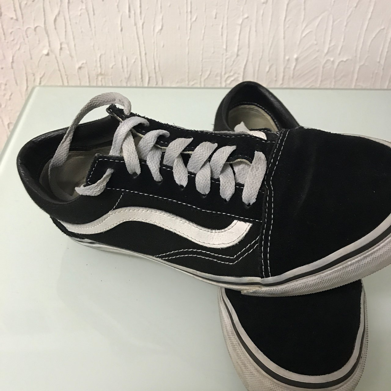 Old Skool Vans Size 5 UK Worn a couple of times but no fit - Depop 7879913aa