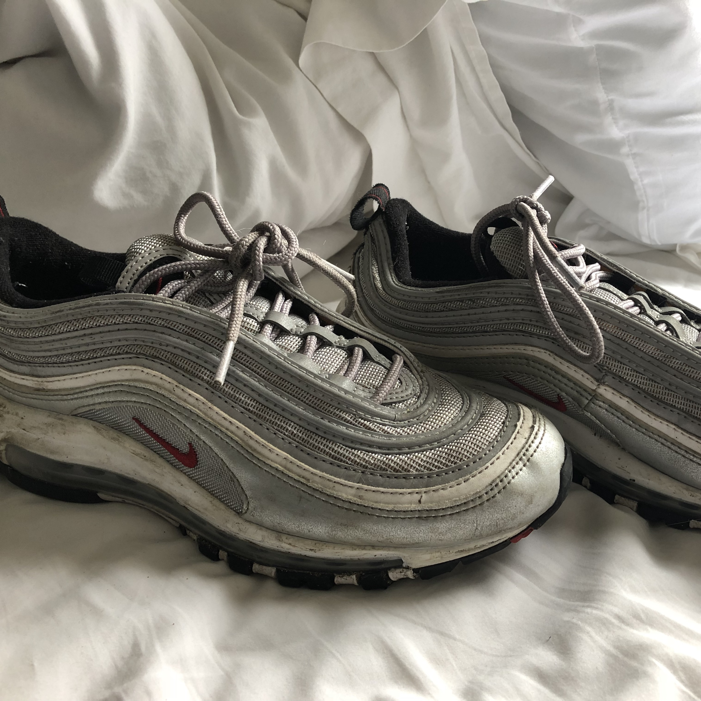 Nike silver 97s , muddy but almost