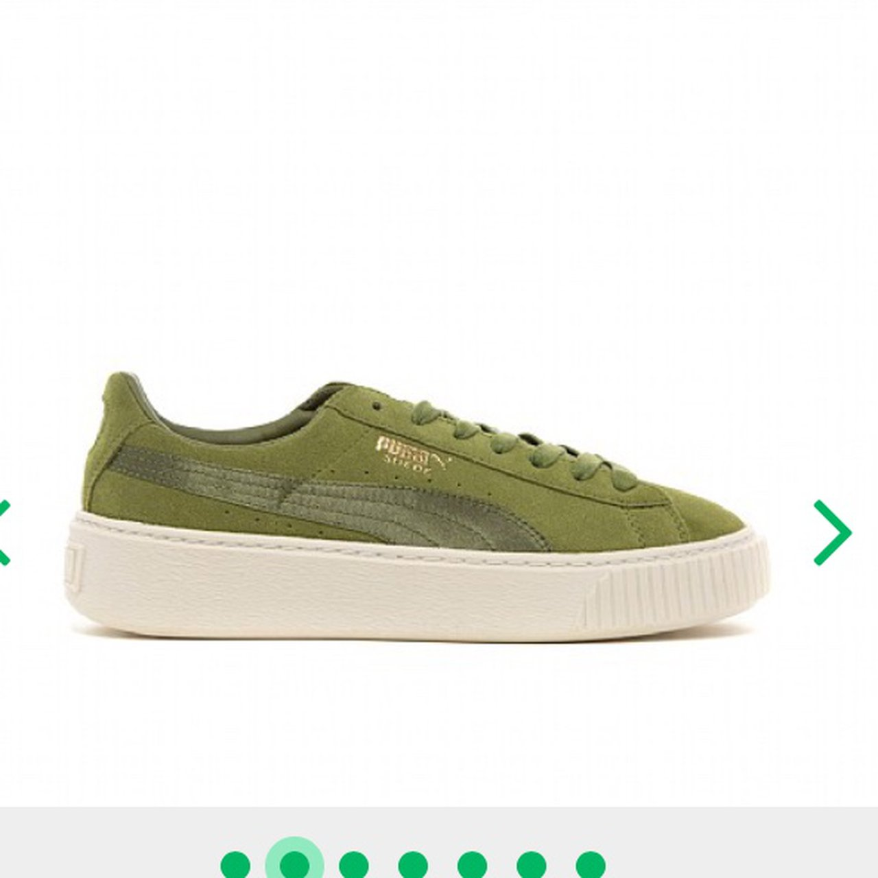Olive green women s puma suede shoes   runners in a size 5 c2907ea62