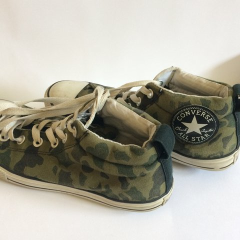 f54f67584d60 Cool camo Coverse All Star size 5. They are very comfy