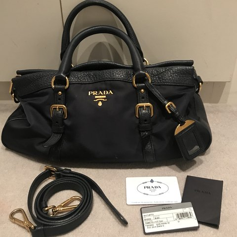 d671173542b5 @jenjen_06. 4 months ago. United Kingdom. Prada Bauletto Bleu Bag Colour -  Navy Tessuto Nylon and Soft Calf