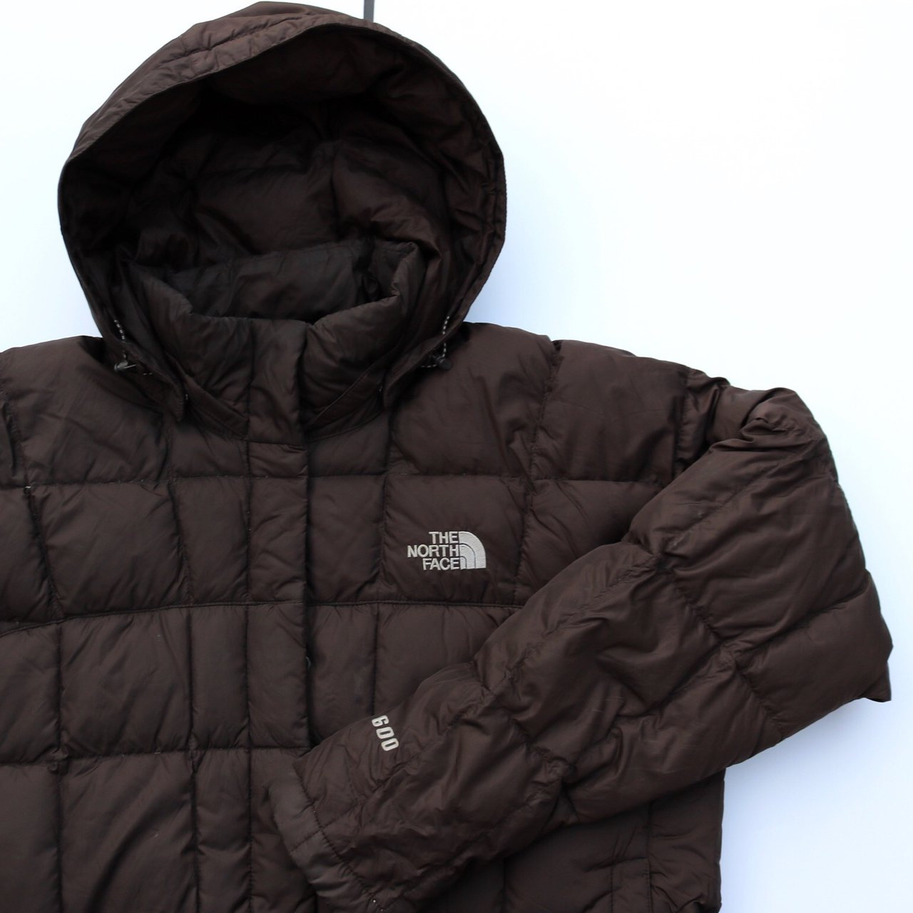 Women s brown the north face puffer jacket in great vintage - Depop a862b9fe10