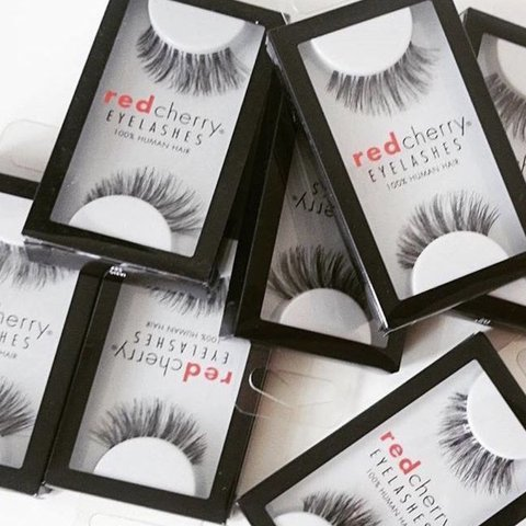 75019f434ce Red cherry lashes (Pick your own style) We have; 42, 43, 1, - Depop