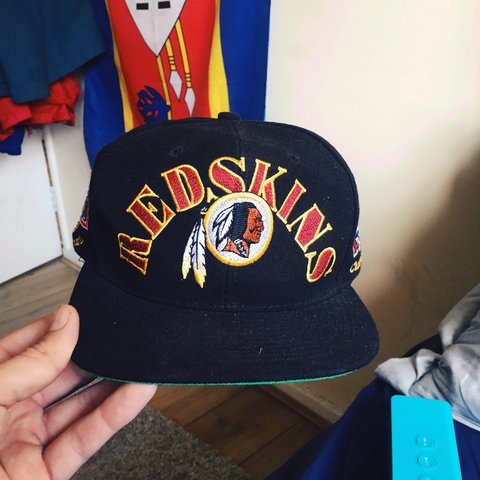Washington Redskins NFL Super Bowl Winners snapback cap  80s - Depop 8b130505f