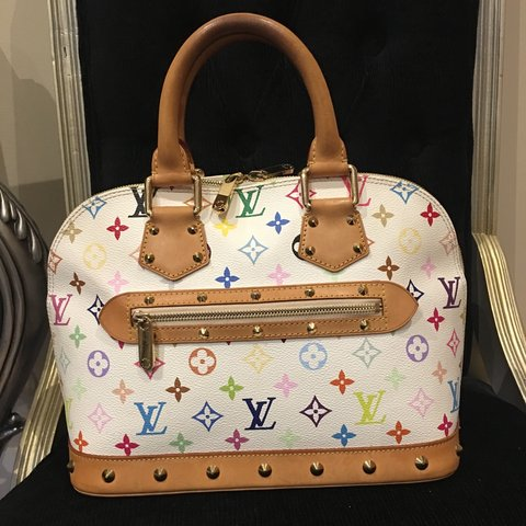 03a182cdd9c26 Genuine 100% Louis Vuitton Multicolor Alma bag from the This - Depop