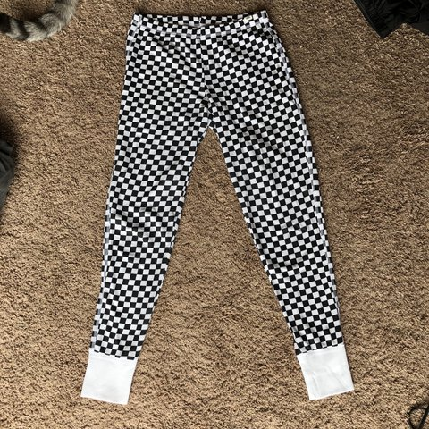 1006bf47fdd37 Vans checkered black and white leggings. From Urban only No - Depop