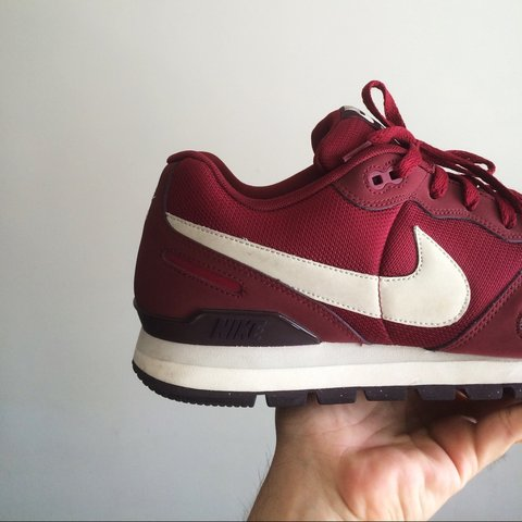 3243ad2f21b Nike Air Waffle Trainer burgundy shoes. Condition 9 10. in - Depop