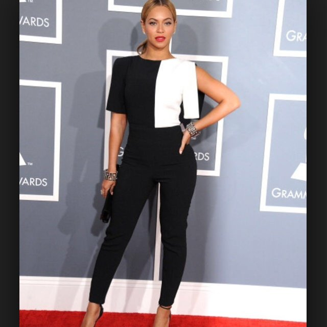 f84b08001dcc Beyonce black and white jumpsuit. Size 8 10 12. In perfect - Depop