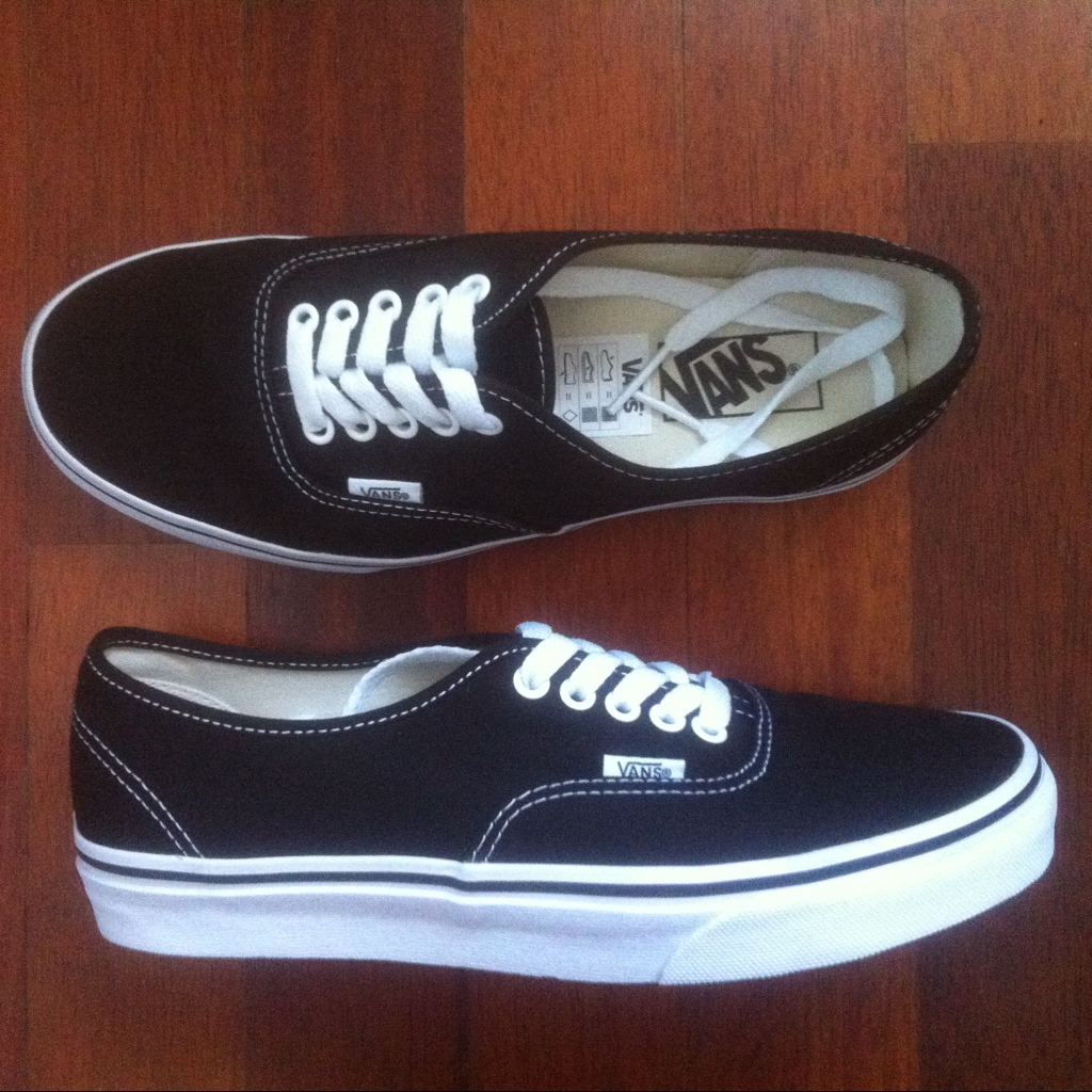 vans authentic nero