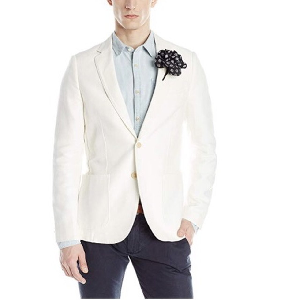 fb48dd8b @estefania_l. 9 months ago. United States. Scotch & Soda White Mens Blazer