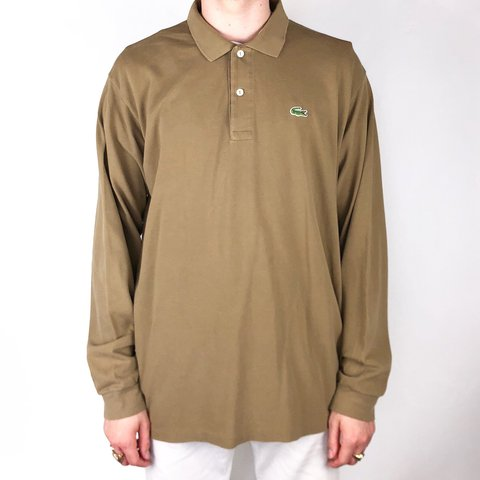 c9d85f1d @solitaryflight. last year. Birmingham, United Kingdom. Vintage Lacoste  Long Sleeve Polo • Light brown • Size ...