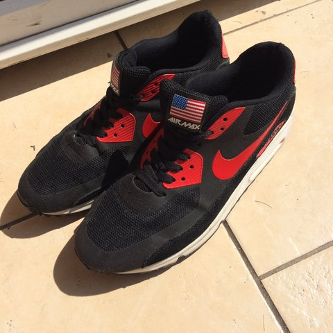 25791a3f6f 👟 Black/Red Nike Air Max, size 9 (uk) Bought for £70 but as - Depop