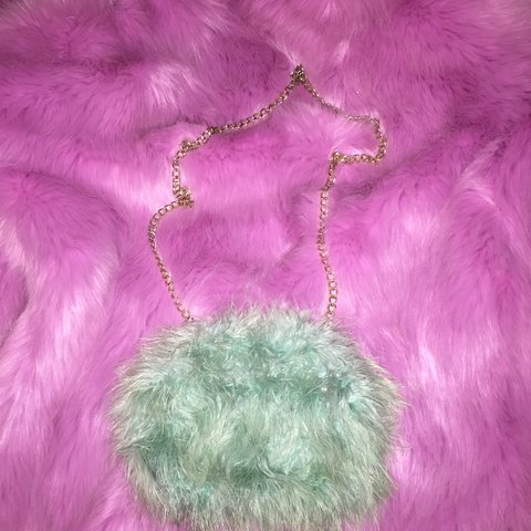 River island faux fur small bag. Has been used and there is - Depop 911f8c3ee9409