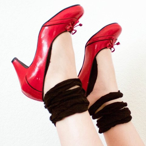 de4e9b3659c Red and Black Mary Jane Heels by MUDD