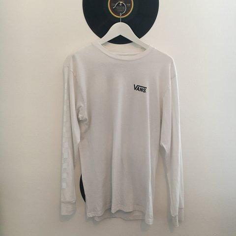 6e6e9ce2b4 VANS X THRASHER COLLABORATION LONG SLEEVED WHITE T SHIRT on - Depop