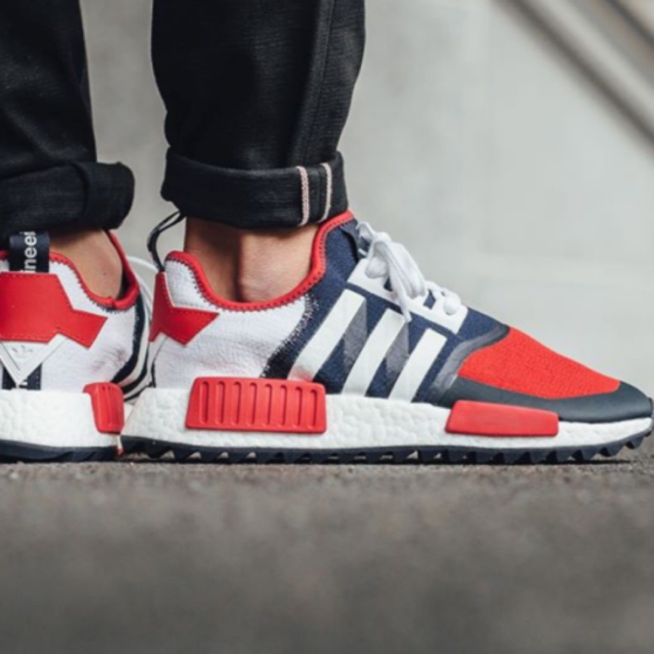 White Mountaineering x Adidas NMD PK Trail Red Depop
