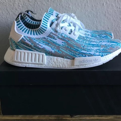 a41989c3941aa ADIDAS NMD R1 PK DATAMOSH BLUE UK10 SNEAKERSNSTUFF COMES - Depop