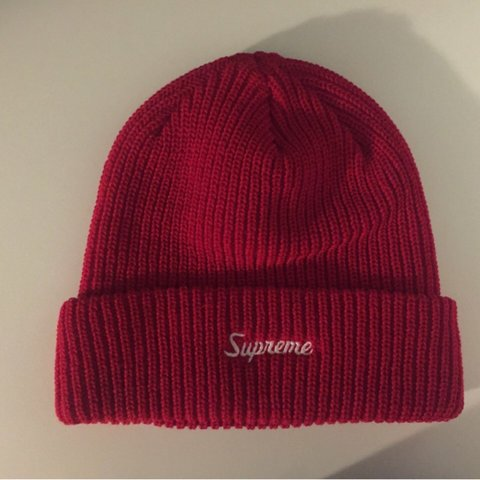 b9c085afc659f Supreme loose gauge beanie. Bought from supreme store online - Depop