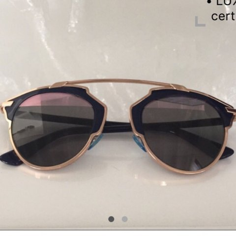 839d61ea3aca SO REAL DIOR. Very nice sunglasse pink gold and blue . Verry - Depop