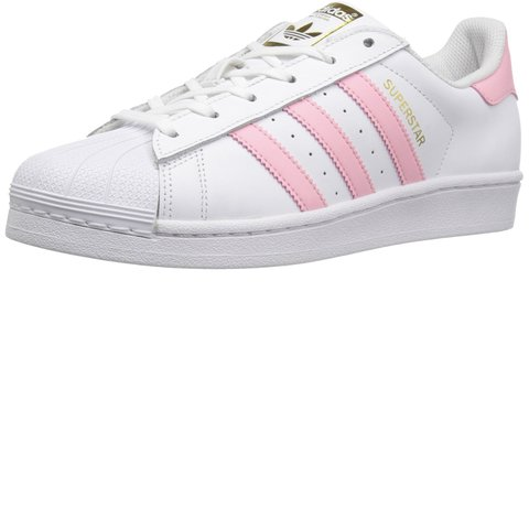 e25702e3062 Adidas superstar shell toes in a cute baby pink color! Used - Depop