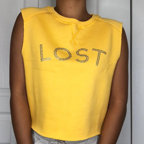 372c8852 YELLOW MUSCLE TEE SHIRT BRAND NEW. NEVER WORN COTTON AND ARE - Depop