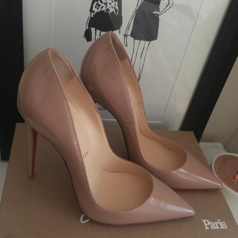 b4d8a9b99d00 Christian Louboutin  So Kate  120 in Nude Patent • Size UK - Depop