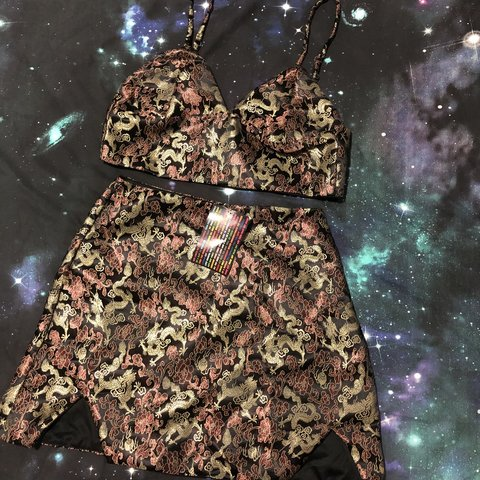 95442b8571e0c2 OMIGHTY SKIRT AND BRALETTE SET 🐉🌈 Size LG (12-small 14) - Depop