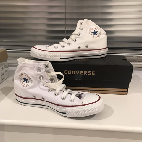 cac8b4392a5d Converse High Tops White Size 5 UK BRAND NEW IN BOX. NEVER - Depop