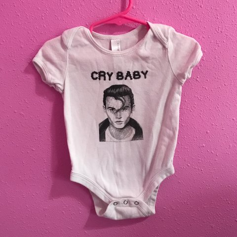 27c5242e0 Unisex  CRY BABY  onesie. Size 12-18 months. This is my that - Depop