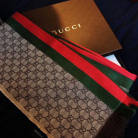4fb54271c Gucci scarf - worn once #gucci #scarf Uk ONLY , comes with - Depop