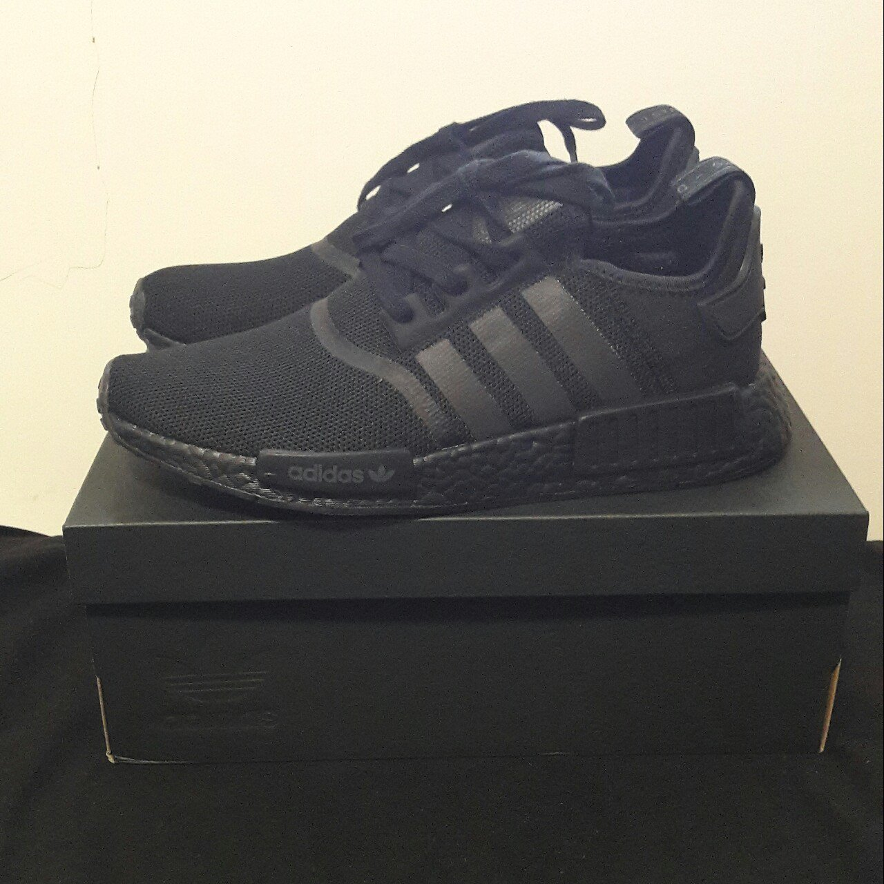 b5cef83257a Adidas R1 Runner Triple Nmd Size Depop Mono Black Reflective ffrxpqCw