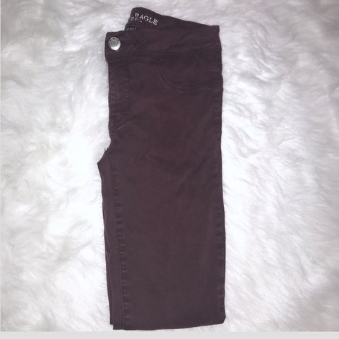 f53490ccbd5122 @itslizxo. 10 months ago. Charleston, United States. Size 0 Dark Red Maroon American  Eagle Outfitters Super Stretch Extreme Legging Skinny ...