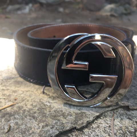 cefc70ff182 100% Authentic Gucci imprint monogram GG belt 40