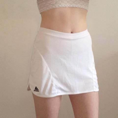 d0a7b3c3859d Adidas white tennis skirt with side vents and undershort • • - Depop