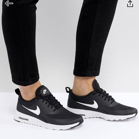 Black Nike In A Fair Thea I Trainers And Air WhiteWorn Max Depop 80vONwymnP