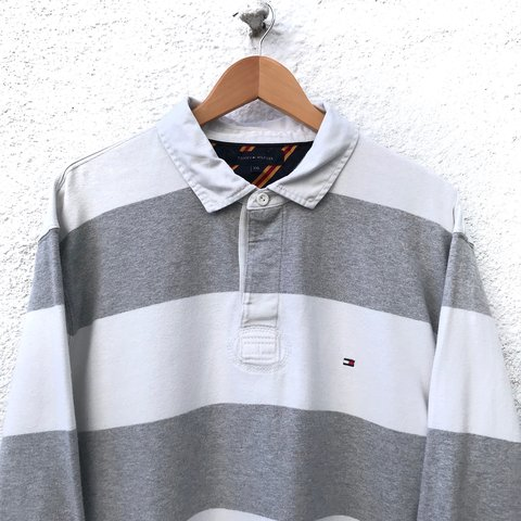 3029d4e36 @iconicgrade. 6 months ago. United Kingdom. Vintage 90s Tommy Hilfiger Rugby  Polo Shirt Men's size ...