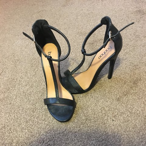 d80df3f7a739 Black sandal heels size 3 from Boohoo Worn once in perfect - Depop